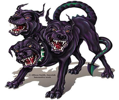 Cerberus a mythological creature
