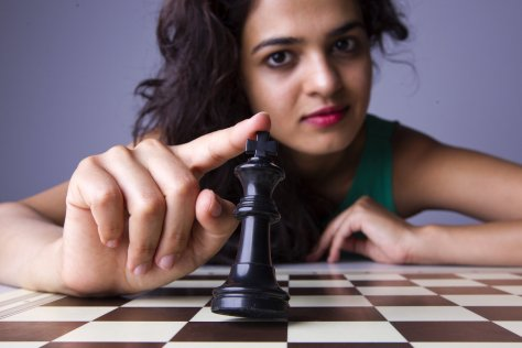 Indian chess player Tania Sachdev poses for a portrait in Barcelona , Spain on July 13th, 2013.