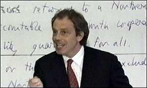 Phony Blair`s handwritten pledges in Coleraine